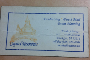 Nicole Schlinger business card