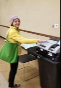 Nicole Schlinger voting